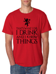 Tyrion Lannister That's What I Do I Drink And Know Things Men Tshirt
