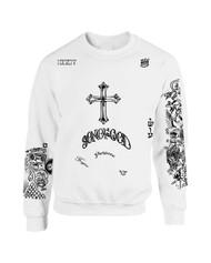 Bieber Son of God body Tattoos Crewneck sweatshirt