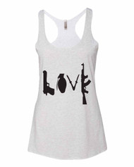 Love Triblend Racerback Tank Guns Love Tank Top