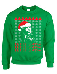 Adult Crewneck Let It Snow Ugly Christmas Sweater Jon Snow Gift