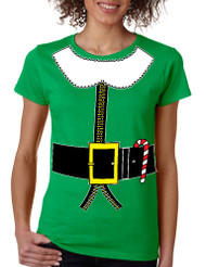 Women's T Shirt Elf Suit Santa's Elves Christmas Tee Xmas Gift