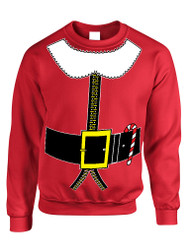Adult Crewneck Elf Suit Santa's Elves Christmas Gift Xmas Top