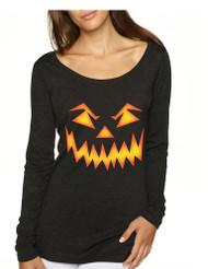 Women's Shirt Angry Pumpkin Face Cool Halloween Costume Idea