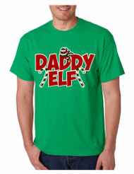 Men's T Shirt Daddy Elf Ugly Christmas Cool Holiday Gift Idea