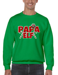 Men's Crewneck Papa Elf Ugly Christmas Holiday Gift Top