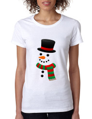 Women's T Shirt Snowman Ugly Christmas Xmas Gift Cool Tee