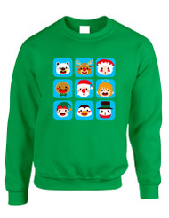 Adult Crewneck Christmas Icons Ugly Xmas Symbols Sweater