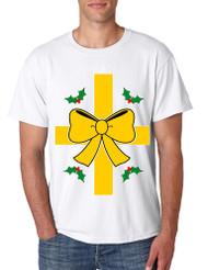 Men's T Shirt Christmas Gift Wrap Xmas Ugly T Shirt Funny Top