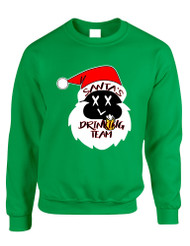 Adult Sweatshirt Santa's Drinking Team Fun Ugly Xmas Sweater