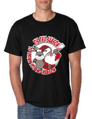 Men's T Shirt Tis The Season Drink For No Reason Fun Ugly Xmas