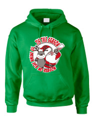 Adult Hoodie Tis The Season Drink No Reason Ugly Sweater