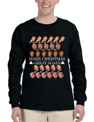 Men's Long Sleeve Make Christmas Great Again Trump Xmas Top