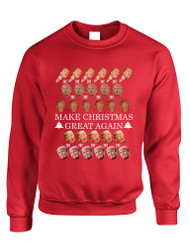 Adult Sweatshirt Make Christmas Great Again Love Trump Ugly Xmas