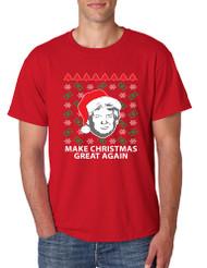 Men's T Shirt Trump Christmas Great Again Money Snow Ugly Xmas