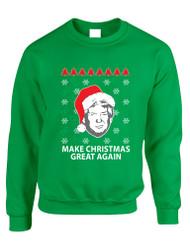 Adult Sweatshirt Donald Trump Make Christmas Great Again Ugly Xmas
