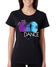Women's T Shirt Dance Art Purple Print Love Cute Gift Nice Tee