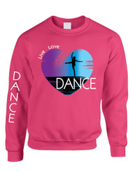 Adult Sweatshirt Dance Art Purple Print Love Cute Top Nice Gift