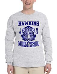 Men's Long Sleeve Hawkins Middle School 1983 Tigers