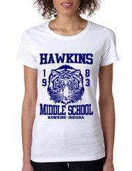 Women's T Shirt Hawkins Middle School 1983