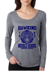 Women's Shirt Hawkins Middle School 1983