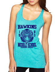 Women's Tank Top Hawkins Middle School 1983