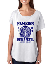 Women's Dolman Shirt Hawkins Middle School 1983