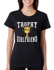 Women's T Shirt Trophy Girlfriend Love Valentine's Day Gift