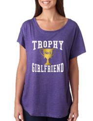 Women's Dolman Shirt Trophy Girlfriend Love Valentine's Gift