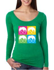 Women's Shirt 4 Faces Harry Glasses Scar Popular Cool T Shirt