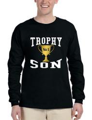 Men's Long Sleeve Shirt Trophy Son Cool Gift Best Love Shirt