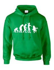 Adult Hoodie Irish Evolution Leprechaun St Patrick's Day Top