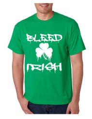 Men's T Shirt Bleed Irish St Patrick's Party Top Love Irish