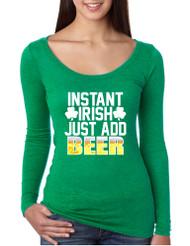 Women's Shirt Instant Irish Add Beer St Patrick's Day Shirt