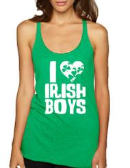 Women's Tank Top I Love Irish Boys St Patrick's Day Party Top