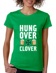 Women's T Shirt Hungover Clover St Patrick's Day Party Tee