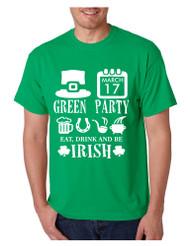 Men's T Shirt Green Party St Patrick's Day Shirt Drunk Tee