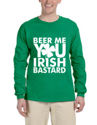 Men's Long Sleeve Beer Me You Irish St Patrick's Day Drunk