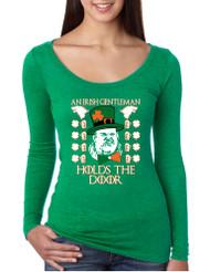 Women's Shirt Irish Hodor Hold The Door St Patrick's Day Shirt