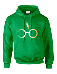 Adult Hoodie Irish Harry Glasses Scar St Patrick's Top