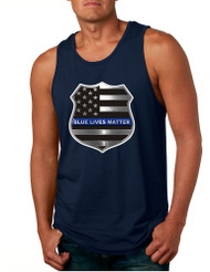 Men's Tank Top Blue Lives Matter American Flag Top