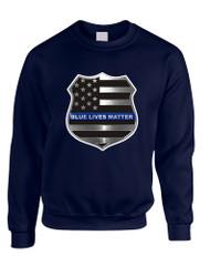 Adult Sweatshirt Blue Lives Matter American Flag Shirt