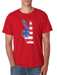 Men's T Shirt American Flag Hand 4th Of July Tee Shirt