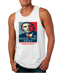 Men's Tank Top Miss Me Yet Obama Trump Elections Top