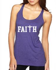 Women's Tank Top Faith Print Cross Love Christian Top