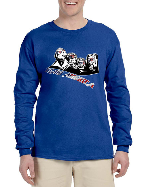 Men 39 S Long Sleeve 4 Fathers American Team 4th Of July Shirt