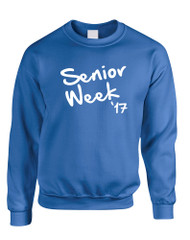 Adult Sweatshirt Senior Week 17 White Class Of 2017 Party
