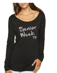 Women's Shirt Senior Week 17 Glitter Silver Class Of 2017