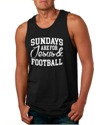 Men's Tank Top Sundays Are For Jesus And Football Love Top