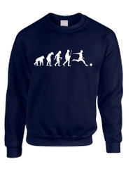 Adult Sweatshirt Soccer Evolution Funny Love Sport Top