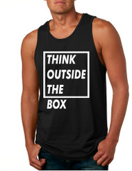 Men's Tank Top Think Outside The Box Creative Thinking Quotes